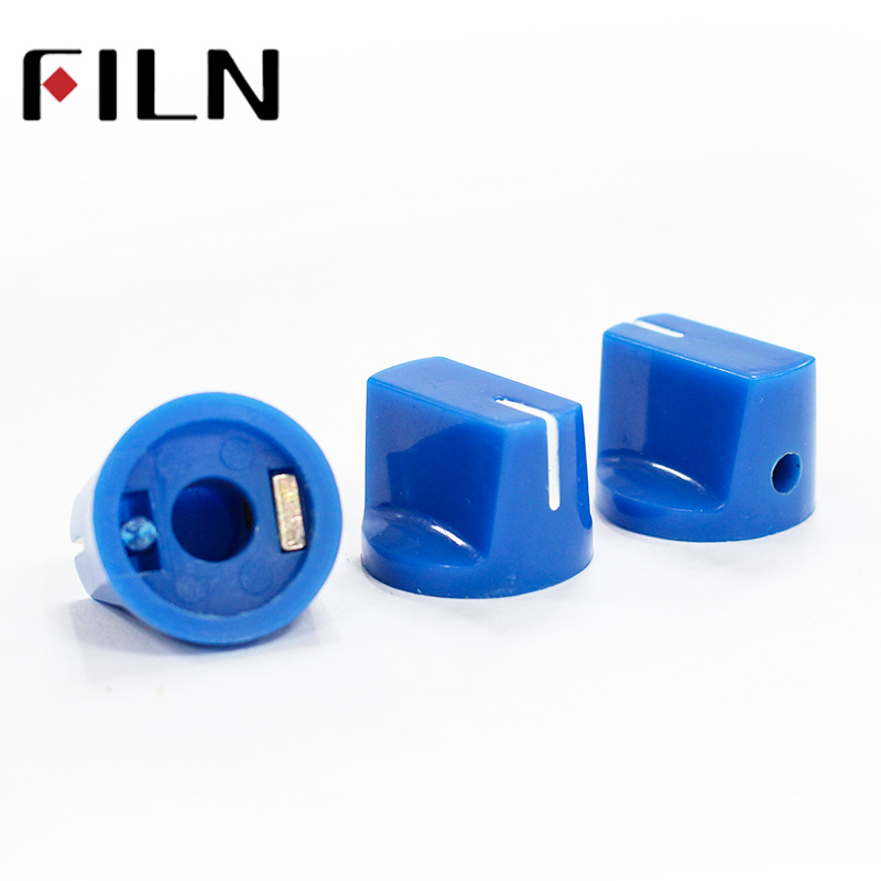 Blue 6.35mm shaft with SCREW Effector KONB Guitar Knob fluted slide Potentiometer Pedal Knobs (2)