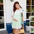 Лето в стиле Кружева Твердые Материнства Платья Одежда Для Беременных Одежда Для Беременных Беременность Одежда 2015 Новая Мода
