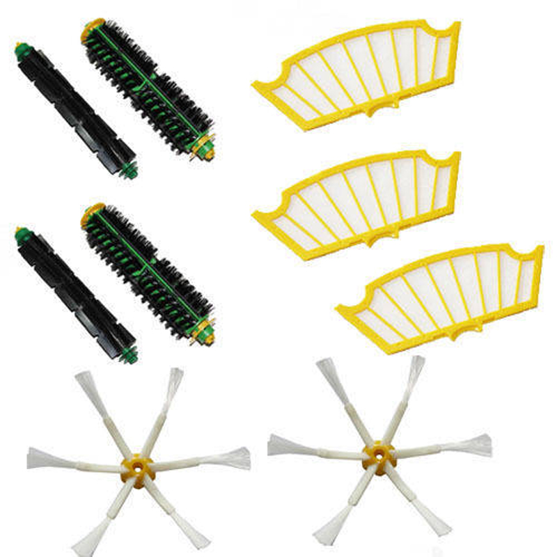 9PC Side Brush Filters 6 Armed pack for iRobot Roomba 500 Series 530 550 560 580 510