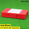 "KELUSHI 2016 5pcs  for 3.5""SATA IDE Hard Disk Drive Anti-Shock Protection Storage Box Case HDD BK fast shipping"