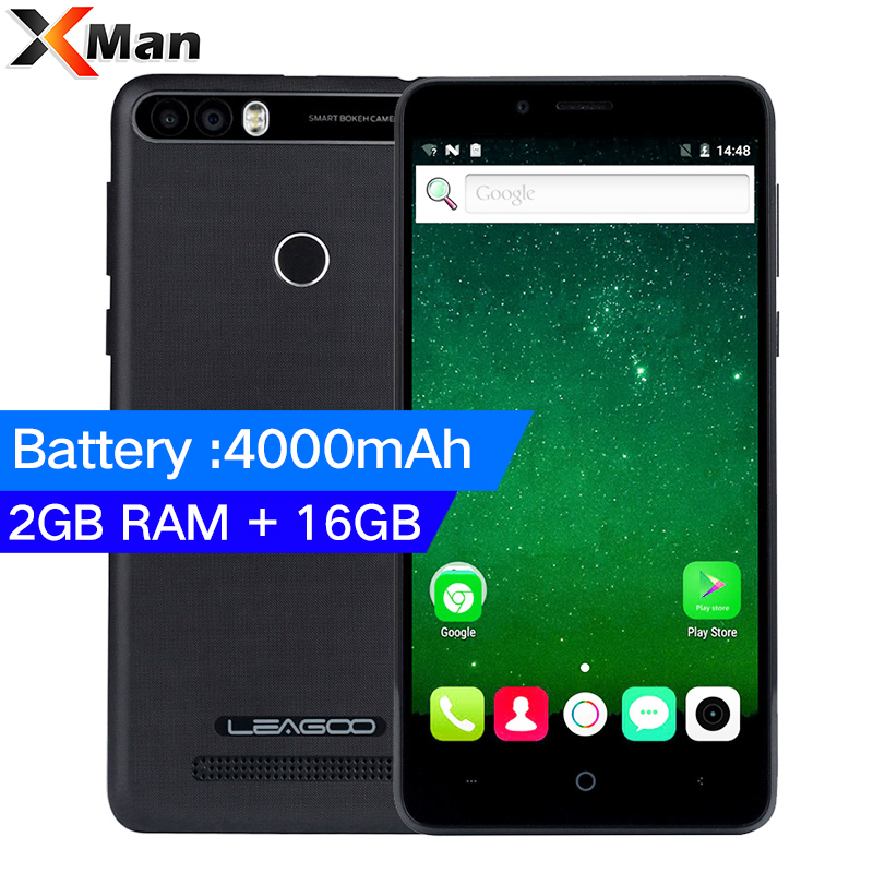 LEAGOO KIICAA POWER Android 7.0 4000mAh Dual Camera Mobile Phone 5.0 Inch MT6580A Quad Core 2GB RAM 16GB Fingerprint Smartphon