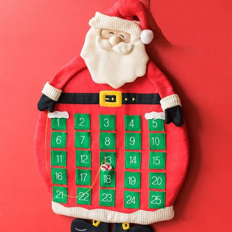 68X48cm Christmas Advent Calendar Santa Claus Style as Christmas ...