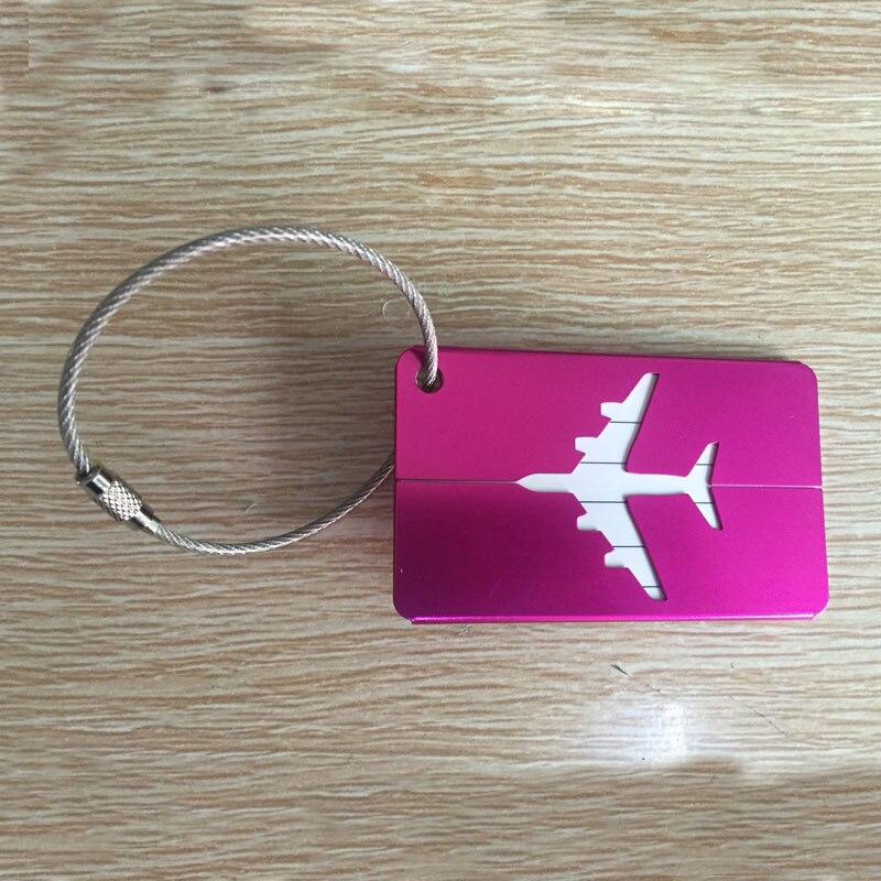 OKOKC багажные бирки из алюминиевого сплава, багажные бирки, ярлыки для багажа, аксессуары для путешествий - Цвет: Rose