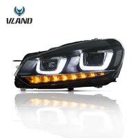 Vland Car Styling Headlight For Golf6/MK6 2010 2014 Led Head Lamp Xenon HID Car Light Accessories