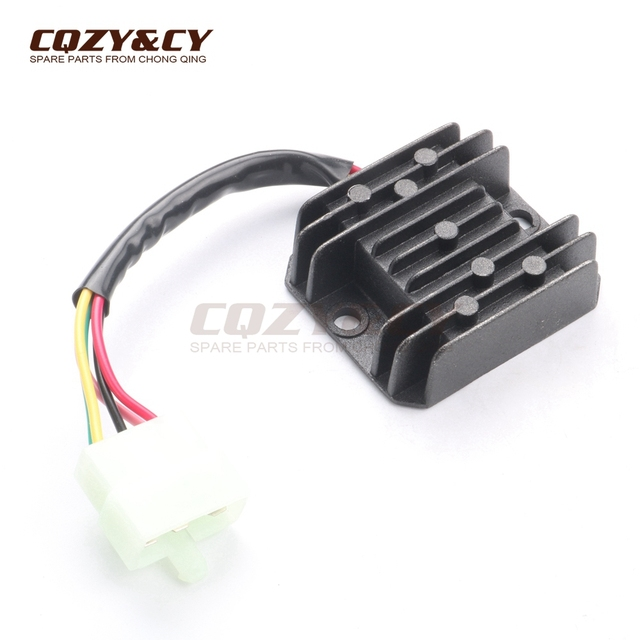 US $8 81 |Voltage Regulator Rectifier 5 Wires 5 pin 12V for KYMCO Agility  2T R16 10 Rs Naked 2T 10 Like 2/4T 09 Super 8 2/4T 07 09 50cc-in Motorbike