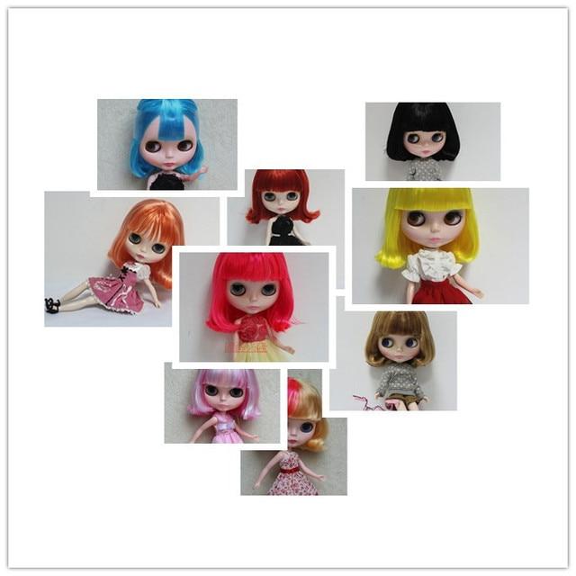 Nude blyth boneca, pode mudado em corpo articulado ou transparente pele do rosto, todos os tipos de cores de cabelo