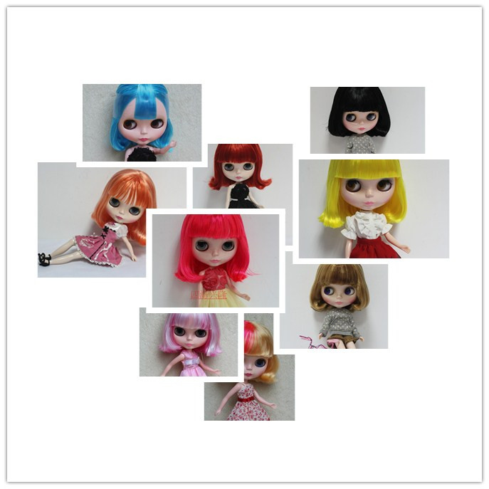 Nude blyth doll ,can changed into jointed body or transparent skin face, all kinds of hair colors