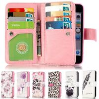 For Iphone 5S Case Leather Luxury Flip Card Slot Wallet Magnet Phone Case For Iphone 5S