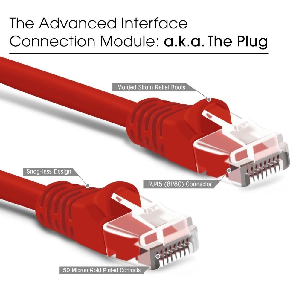 2 Foot CAT 6 RJ45 Ethernet Network LAN Patch Cables 5 Piece Lot