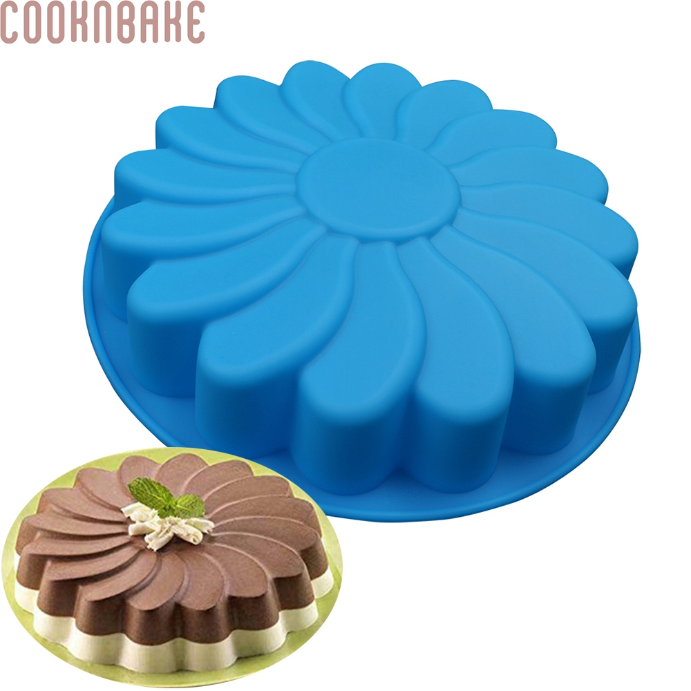 COOKNBAKE DIY Silikone Cake Mould Single Flower DIY Bagning Cake Pan Sun Flower Gelé Mould FDA Quality CDSM-124