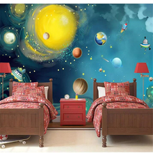 beibehang  Custom wallpaper Hand-painted space universe childrens room bedroom large background wall photo behang