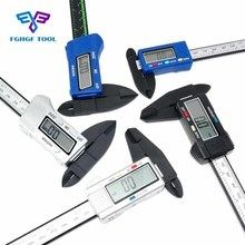 Best price FGHGF 6inch 150mm Carbon Fiber Digital Electronic Vernier Calipers LCD Rule Pachometer Gauge Micrometer Thickness Measuring Tool