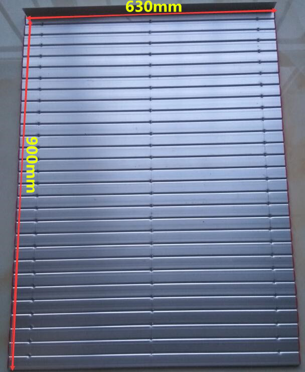 Aluminium Rolling cnc protection cover dimensions 630mm width x 900 mm long