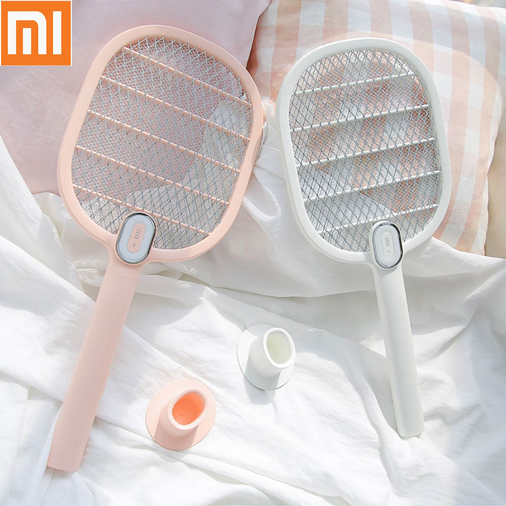 جديد Mijia 3 الحياة صاعق بعوض القاتل الكهربائية المحمولة المحمولة مضرب حشرة ذبابة علة البعوض صاعق منشة القاتل