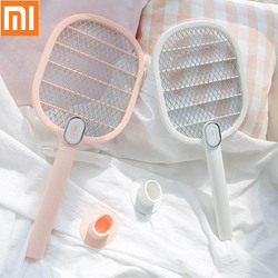 Nuevo Mijia 3 Life Mosquito Matador eléctrico portátil de mano raqueta de insectos moscas Mosquito mata Matador