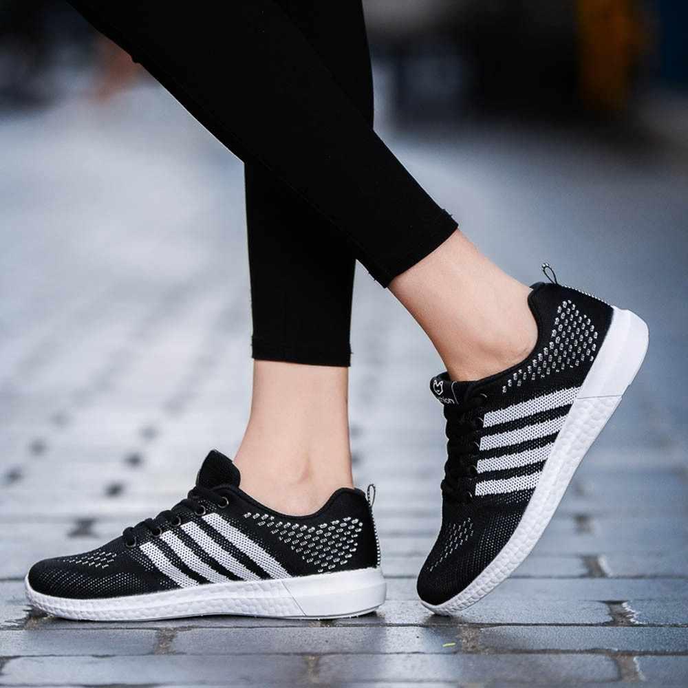 e945f53d MUQGEW/Обувь для женщин s Спорт 2019 Новая мода Женская Повседневная  Спортивная обувь женские легкие