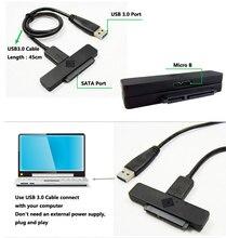 10pcs Free shiping USB3.0 TO 22PIN SATA 3.0 2.5inch SATA 6Gb SSD Hard Disk Drive HDD Adapter Cable USB TO SATA Cable
