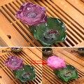 Изделия китайского декоративно-прикладного искусства  статуя лотоса  для чая  домашних животных  Статуэтка из смолы  меняющая цвет  Lucky flower  ...
