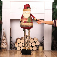 Merry Christmas Decoration 52 85cm Retractable Standing Christmas Dolls Large Santa Claus Snowman Doll Toys Kids New Year Gifts
