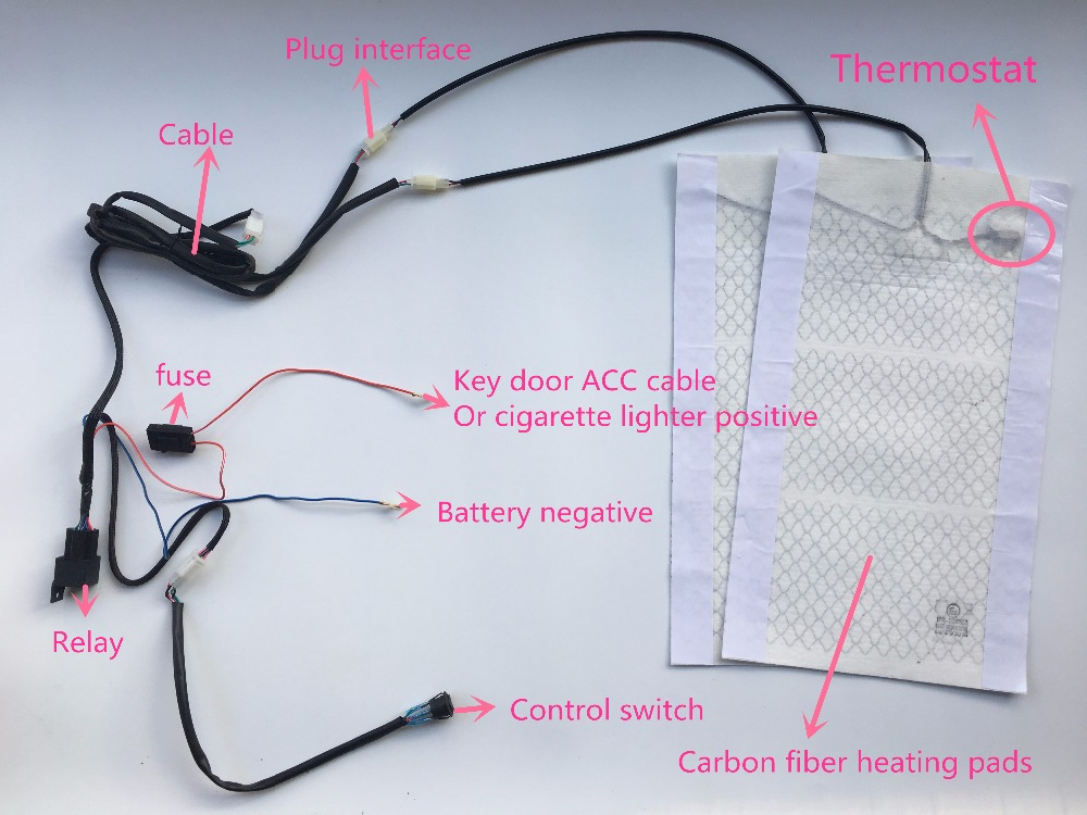 seat heating connection diagram