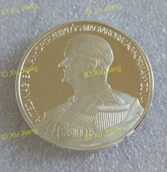 40MM Miklos Horthy rey de Hungría, líder de la guerra mundial 2 medalla de monedas de recuerdo