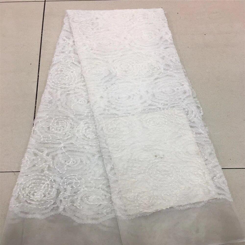 Amour merci dentelle dernière broderie africaine plaine blanc nigérian dentelle tissus pour X63-1 de mariage traditionnel