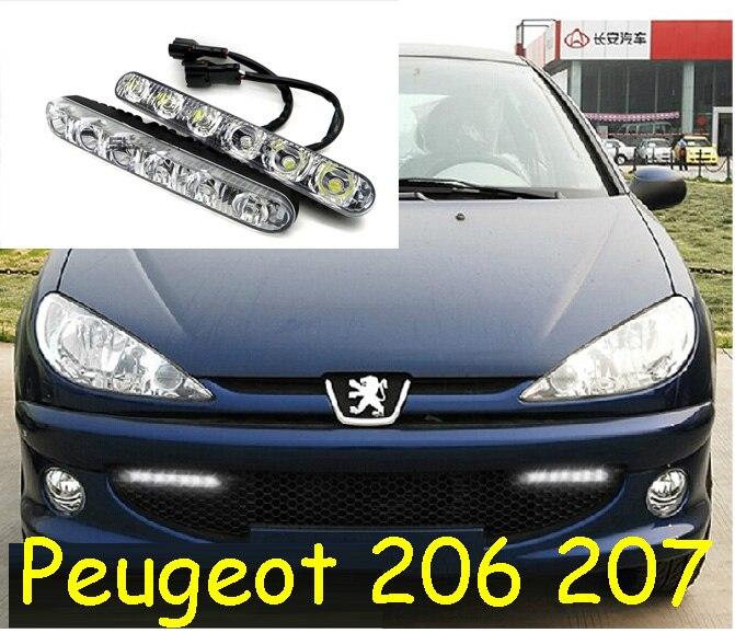 Puegeo 206 207 407 408 607 508 daytime light,LED,Free ship!2pcs/set+wire,206 27 407 408 607 508 fog light,206 207 407 408 607 ghp 206