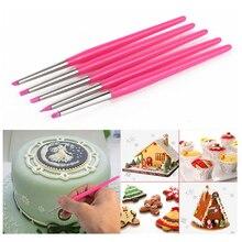 1 zestaw/5 pc silikonowe pióra dekorujące narzędzie do masy cukrowej kremówka kształtowanie Pen do ciasteczek i herbatników Cupcake dekorowanie ciasta narzędzia K356