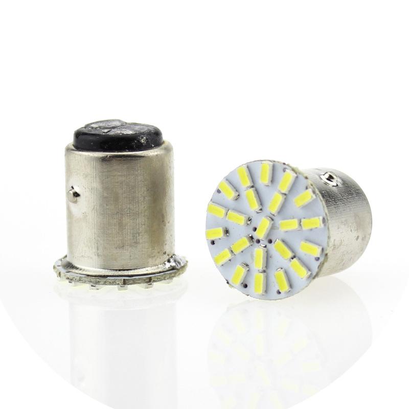 100 PCS Car 1157 LED BAY15D 3014 Chip 22SMD Auto LED Light Lamp Turn Signal Brake Lights White .8