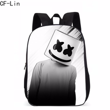 2019 New Hot Marshmello Children Schoolbag Famous DJ Face Alone Backpack for Teenager Boys and Girls Men Women Hip Hop Backpack(China)