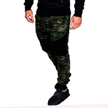 2019 Rushed Anti Mosquito Clothes Men Running Fitness Sports Leisure Fashion Color Matching Stretch Of Cultivate Morality Pants