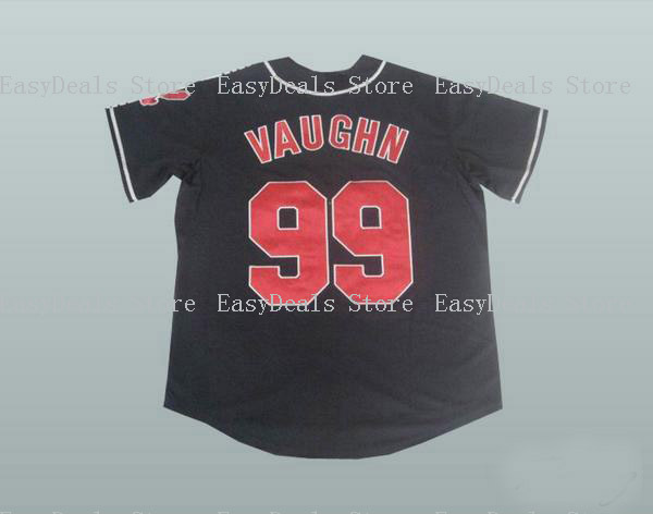 23a02abee top quality rick ricky vaughn 99 roger dorn baseball jersey stitched men  throwback baseball jersey s