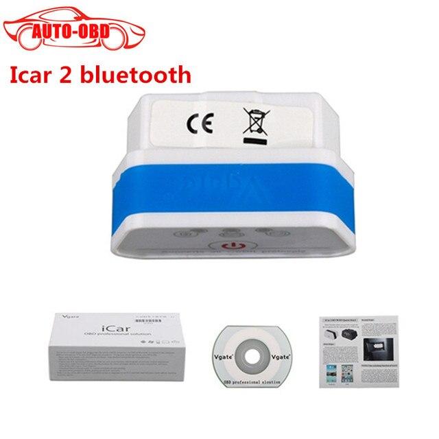 New Design Fashion Mini ELM 327 Vgate Bluetooth iCar 2 OBDII ELM327 iCar2 Bluetooth OBD EOBD Code Scanner