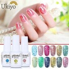 Ukiyo 15 мл Bling гель для ногтей с блестками польский Diamond светодиодный LED гель лаки для ногтей полу постоянный DIY Дизайн ногтей гель для дизайна