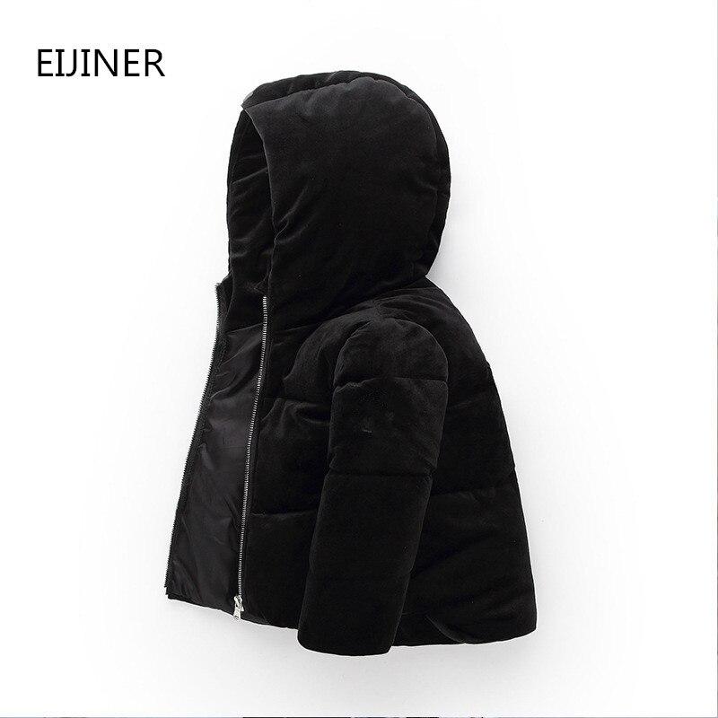 Niños chaquetas de invierno 2019 nuevo abrigo de invierno para niñas otoño cálido con capucha de manga larga bebé niño niños chaqueta Parka abrigo
