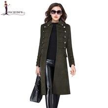 Зима Большой размер S-3XL шерсть Для женщин пальто куртки 2018 Осень Модные Длинные высокого качества двубортный Женский Верхняя одежда ll582