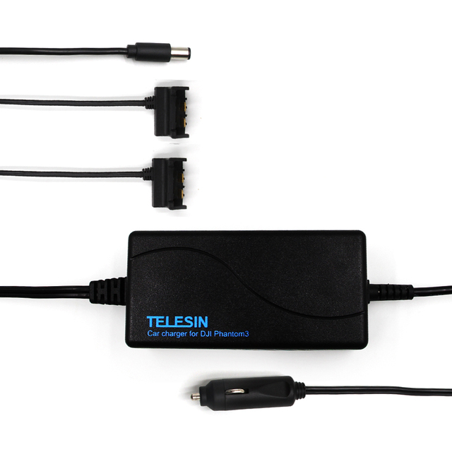 TELESIN Multi-function 70W Smart Car Charger Adapter for DJI Phantom 3 Series Flight Battery and Remote Controller 3 in 1