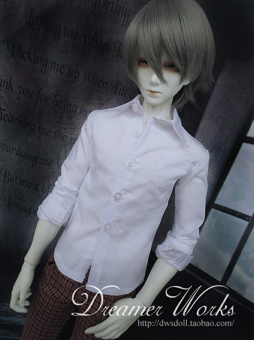 1/3 1/4 Bjd clothes sd doll baby clothes general 1/3 bjd white shirt