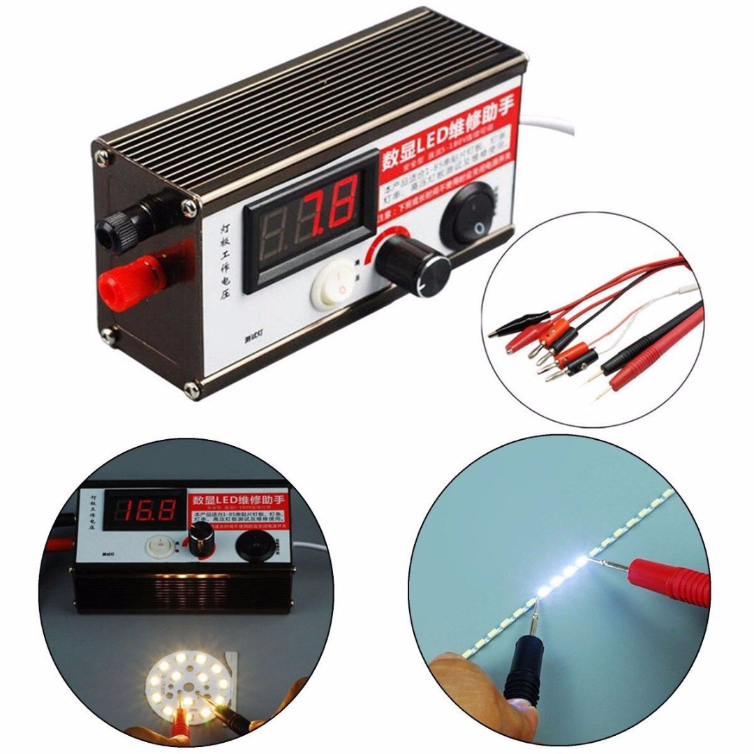 цена на 1-100 Inch LED TV Backlight Tester Tool with LED Test Cable Extra Sharp Test Probe Alligator Clip Test Lead Set Fast Detector