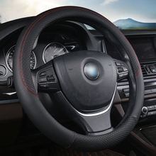 Black Car Steering Wheel Cover Sport Auto Steering-wheel Covers  Accessory 38CM Car-styling Breathable