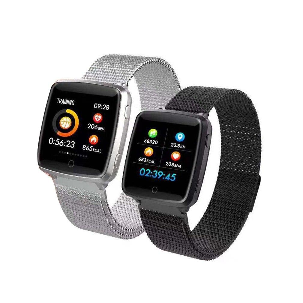 CB501 Fashion Mesh Business Smart Bracelet Heart Rate Monitor Smart Watch Fitness Tracker Blood Oxygen Pressure Smart Band
