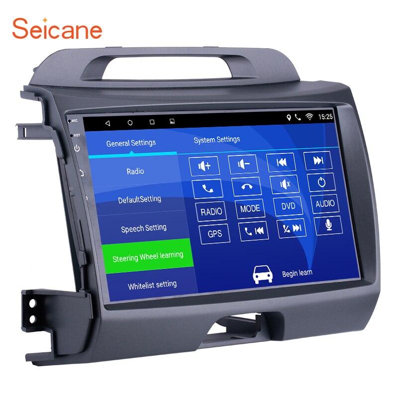 все цены на Seicane Android 6.0 9 inch Wifi Head Unit Radio Audio GPS Multimedia Player For 2010 2011 2012 2013 2014 2015 KIA Sportage онлайн