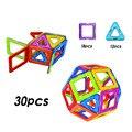 30 pcs enlighten bricks diy 3d crianças designer de construção magnético blocos magnéticos definir modelo para as crianças