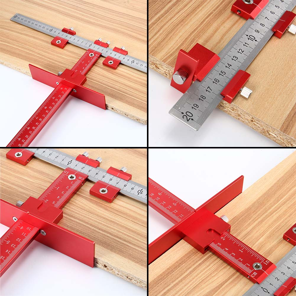 HOT Hole Punch Jig Tool Set Detachable Drill Guide Sleeve Cabinet Drawer Wood Drilling Tools Dowelling NDS66