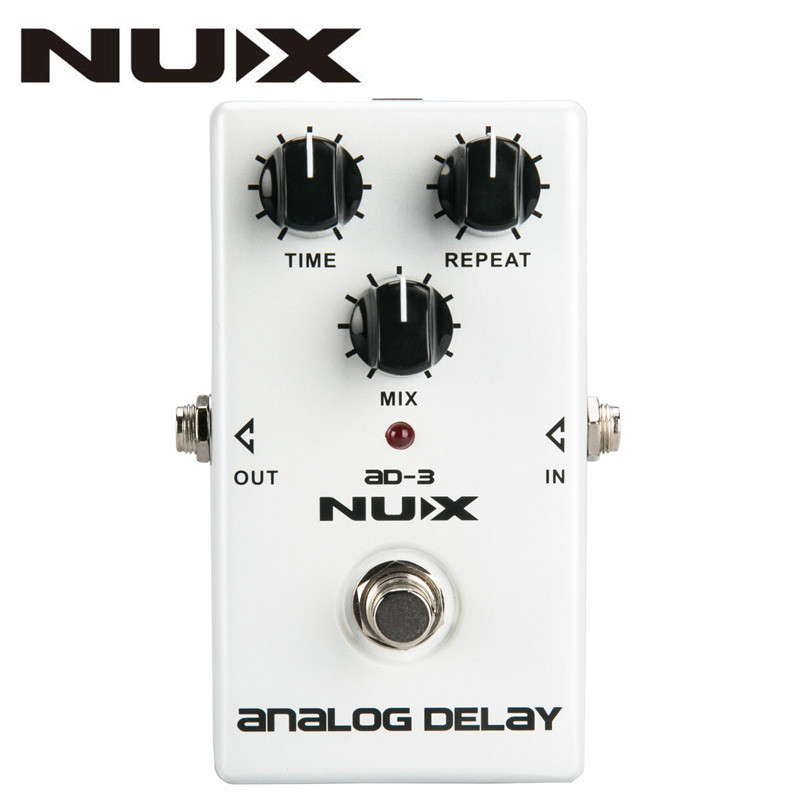 цена на NUX AD3 AD-3 Guitar Effects Pedal Analog Delay Effect Low Noise BBD Delay Circuit 20-300ms Delay time True Bypass With Manual