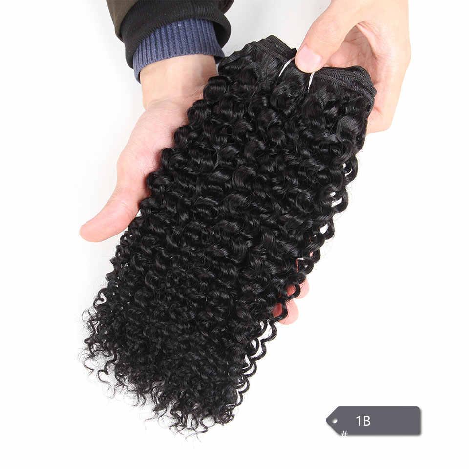 Extensiones de cabello humano, 1 unidad, liso, brasileño, bohemio, rizado, 1 unidad, Color puro Remy, 1 1 1b 4 27 30 extensiones de cabello ondulado, 100g