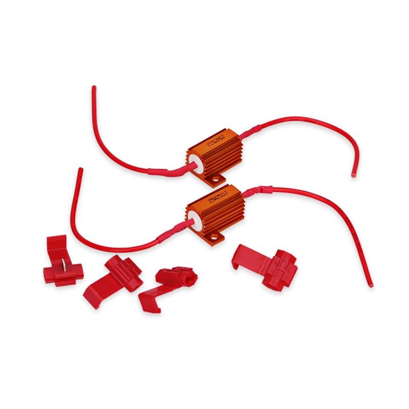 1 Pair 12V 25W Resistors Car LED Turn Light Signal Decoder Brake Tail Light Resister Car Modification Accessories cool steering turn light for car red light 12v pair
