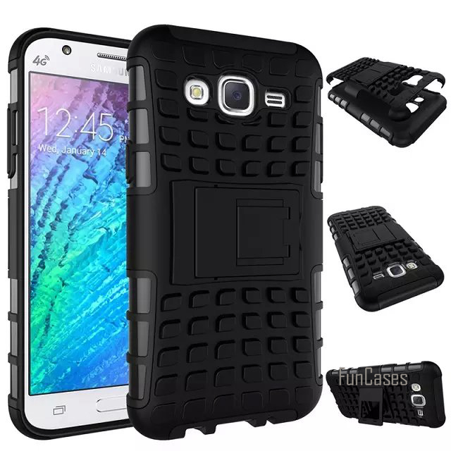 For Samsung Galaxy J5 J500 Case 5.0inch High Quality Hybrid Kickstand Rugged Rubber Armor Hard PC+TPU Stand Function Cover Cases ...