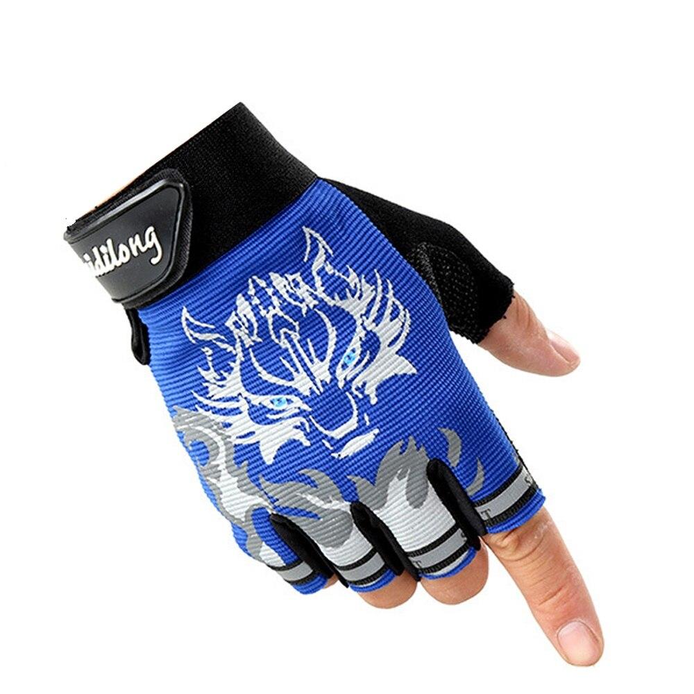 66669fb4f0 Moda rękawice Pół palca rękawiczki bez palców mężczyzna kobiet Sportowe  rękawice half finger guantes luva mężczyzna fitness Ćwiczenia