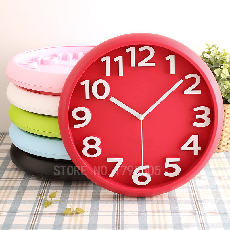 Aliexpress Buy 3d Fashion Candy Wall Clock Circular Digital